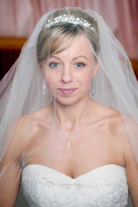 Bride through the veil